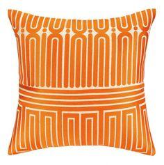 101 Beach House Must-Haves: Trina Turk Orange Garden Maze Throw Pillow | $140