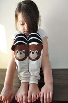 Cozy Up to these Teddy Bear Leg Warmers (from Etsy)