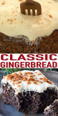 Gingerbread Recipe with {Video} – Sweet and Savory Meals Gingerbread recipe perfect for the holidays. A very easy to make, fluffy, sweet and spiced cake, topped with delicious cream cheese frosting. Holiday Baking, Christmas Desserts, Christmas Baking, Easy Christmas Cake Recipe, Gourmet Recipes, Baking Recipes, Cake Recipes, Party Recipes, Cupcakes
