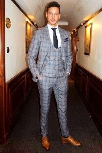 a0876c3c946 Logan 3 Piece Suit Grey Check Suit by Marc Darcy seen on Scott Thomas