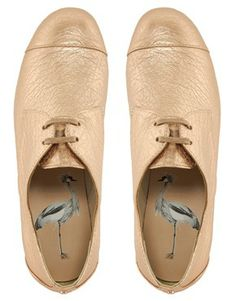 Image 3 of Ted Baker Kape Pink Metallic Flat Brogues