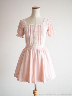 LIZ LISA Off-shoulder Princess Puff OP Dress Victorian Lolita Kawaii Japan #LizLisa #PeplumTunicOffshoulder #Shibuya109Lolitafashion