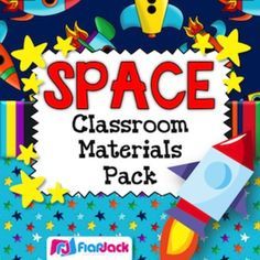 SPACE THEMED CLASSROOM DECOR MATERIALS PACK - TeachersPayTeachers.com