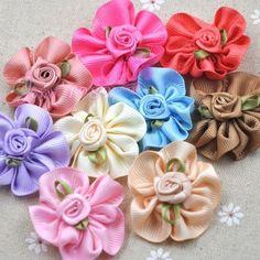 9/27pcs Ribbon bows Flowers Party Crafts wedding appliques DIY craft B0151 #UnbrandedGeneric
