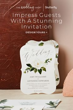 Make a statement that's true to you and your fiancé with customized and unique wedding invitations. Thanks to a wide range of wedding card invite options, you can find the design that coordinates with all of your day-of details, like your wedding flowers, venue, wedding colors and more. You can even edit fonts and colors of your wedding invitation to complement your wedding day style. Start exploring our range of invites to find what suits you best. Personalised Wedding Invitations, Wedding Invitation Cards, Bridal Shower Invitations, Wedding Cards, Invites, Wedding Ceremony Flowers, Wedding Mandap, Wedding Colors, Harry Wedding
