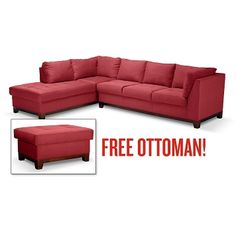 Soho Upholstery 2 Pc. Sectional plus Free Ottoman - Value City Furniture $799.00