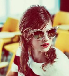 Cateyed glasses are a must for classic girls!