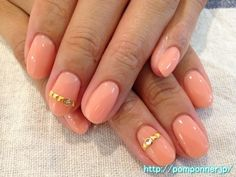 Nail art, such as studded ring