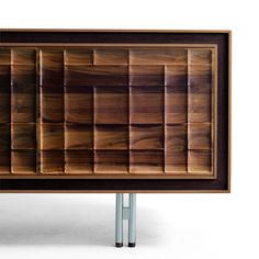 Aston Sideboard, Walnut Veneered Frame, Walnut Doors, Natural Walnut Finish - Contemporary - Buffets And Sideboards - by YumanMod