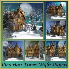 Victorian Times Night Papers by Christine Hart Victorian Times Night Papers a beautiful collection of winter themed backgrounds for all your design needs, these backgrounds are 8x8 making them suitable for you to size for your own needs