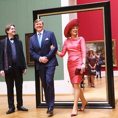 Queen Maxima and King Willem-Alexander were framed during a visit to Alte Pinakothek art museum in Munich. <br><p>Photo: © Getty Images
