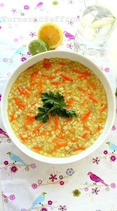 This is a healthy and delicious سوپ جو soup-e jo (barley soup) recipe with chicken, carrots and a goodsquirtof fresh lemon juice. Thi...