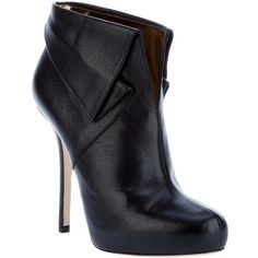 BLUMARINE Stiletto Ankle Bootie ($885) ❤ liked on Polyvore
