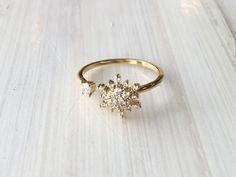 Open Snowflake Ring