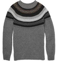 Burberry Prorsum fairisle sweater, which I would definitely borrow, long term, from the menswear trove.