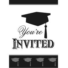 """8 Einladungen """"Graduation"""""""