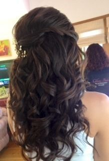Half-down w/extensions...by Calista Brides Hair  Makeup Artistry