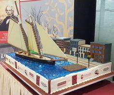 Carlo's Bakery (of Cake Boss fame) made a cake for the on campus reunion of the Stevens family! The famous yacht America has been commemorated in cake form!!