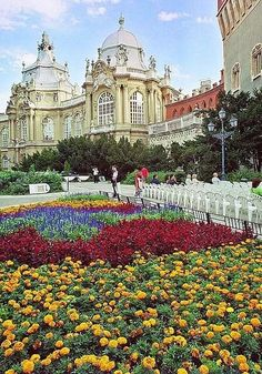 Springtime at the Vajdahunyad Castle in budapest, Hungary.
