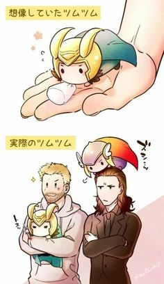 I don't understand a single word from it, but the little Loki stabs Thor😂😂 Funny Marvel Memes, Marvel Jokes, Avengers Comics, Dc Memes, Avengers Memes, Baby Loki, Baby Avengers, Thor X Loki, Marvel Avengers