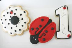 Ladybug /first birthday cookies