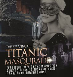 6th Titanic San Diego Halloween Yacht Party Cruise - Prepare for the ultimate Halloween party cruise that will be transformed into a haunting Titanic, filled with 500+ party people. So don't be afraid to come aboard the most magnificent and luxurious yacht in San Diego Harbor, 'The Admiral'. And with four of the hottest SD DJs playing all of your favorite hits, we're sure to wake the dead.