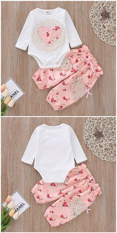 Lace Floral Print Romper and Bow Pants Set - Baby stuff - Baby Hair Toddler Boy Gifts, Toddler Boys, Baby Hair Bands, Mommys Girl, Cute Babies, Babies Stuff, Cute Toddlers, Baby Wearing, Baby Dress