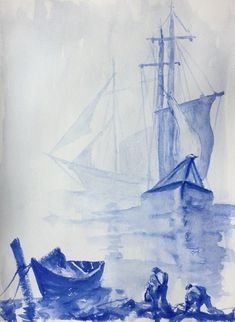 Supporting our NHS - turning the gallery BLUE by Fiona Phipps Sailing Ships, Turning, Imagination, Aviation, Gallery, Artist, Blue, Painting, Roof Rack