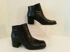 401e9e31e4b White Mountain Women s Boots Black Leather Fairchild Size 9 1 2 Shoes 2 1 2  Heel  WhiteMountain  FashionAnkle