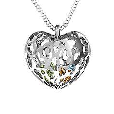 Stone Caged Hearts Pendant #jewlr