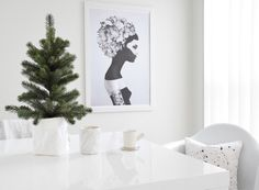 • Feeling Christmas in the air at refine.design • cushion by @me_and_zebedee - Candle by @iloveyf