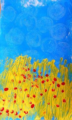 peindre un champ de blé comme Van Gogh