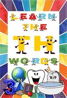 LEARN THE TH WORDS Sh Words, Esl Resources, The Ch, Student Learning, Reading Comprehension, Grammar, Spelling, Vocabulary, Worksheets