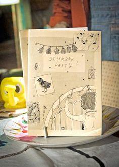 Slumber Party collaborative art zine (last copy!)