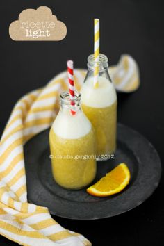 Drink di arancia e banana