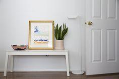 IKEA SIGURD bench, Indego Africa basket, Kate Spade Saturday planter, Barber Osgerby Tab light, Sonia Delaunay print