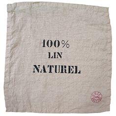 "Cote Bastide Natural 100% Linen Stamped Napkin - 16"" sq."