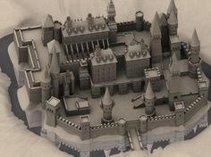 This is a high res model of a castle/sandcastle. Fantasy City, Fantasy Castle, Fantasy Places, Fantasy World, Fantasy Art Landscapes, Fantasy Artwork, Medieval Castle, Medieval Fantasy, Minecraft Castle Blueprints