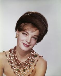 Romy Schneider dressed by Coco Chanel for Boccaccio '70 (1962).