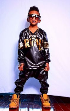 fc6ae368929 Black Gold Rich Boys Leather Vneck BLACK COLLECTION
