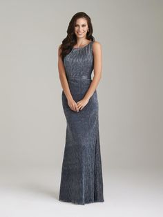 adfed86992 Allure 1472 Shimmer Knit Long Bridesmaid Gown - French Novelty Bridal Wedding  Dresses
