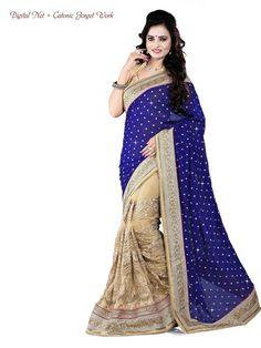 Ethnic Sari Pakistani Bollywood Indian Saree Partywear Designer New Wedding 1965 #KriyaCreation #TraditionalSaree