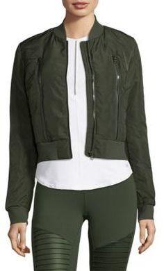 Off-Duty Bomber Jacket #WomensFashion #SpringOutfits #aff