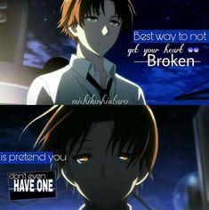 Anime - Classroom of the Elite Sad Anime Quotes, Manga Quotes, True Quotes, Best Quotes, Personality Quotes, Depression Quotes, Lesson Quotes, I Love Anime, Amazing Quotes