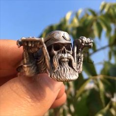 Bearded Skulls Bikers Rider Solid Silver 925 Rings Moto Rock Unique Jewelry Legendary – ANREBEL - Realty Worlds Tactical Gear Dark Art Relationship Goals Jewelry Art, Unique Jewelry, Jewelry Clasps, Jewelry Dish, Kids Jewelry, Travel Jewelry, Stone Jewelry, Jewelry Findings, Jewelry Ideas
