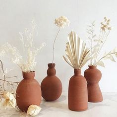 Home decor accessories. Decorative pots and vases from terracotta. Home Decor Accessories, Decorative Accessories, Earthy Home, Clay Vase, Style Deco, Vase Fillers, Home Decor Trends, Vases Decor, Decorative Objects
