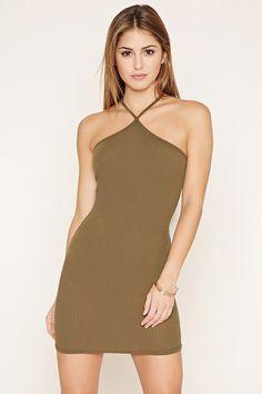 One-Shoulder Ribbed Mini Dress | Forever 21 - 2000205345