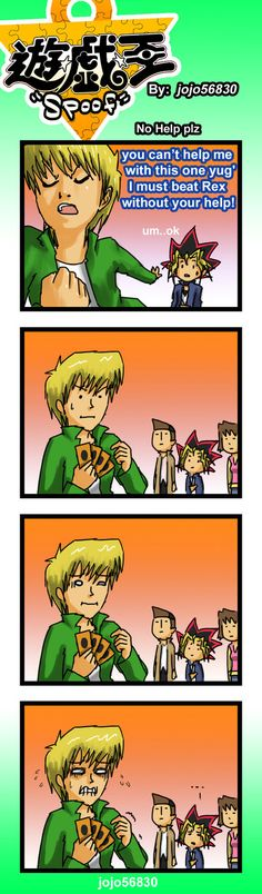 Poor Joey... XD  Yu-Gi-Oh!  YGO Spoof: No help plz by jojo56830.deviantart.com on @deviantART
