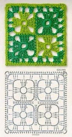 Best 12 How to Crochet a Solid Granny Square – Crochet Ideas – Page 129337820533840622 – SkillOfKing. Motifs Granny Square, Granny Square Crochet Pattern, Crochet Chart, Crochet Diagram, Crochet Squares, Crochet Granny, Filet Crochet, Crochet Ideas, Granny Squares