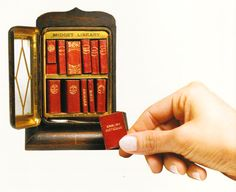 For the love of Books...Twelve-volume miniature Library produced by David Bryce and Son, Glasgow, 1900.